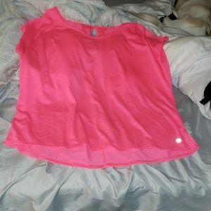 Tops - Neon pink workout shirt